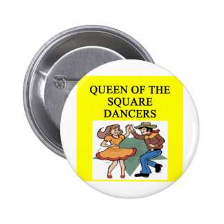 queen of square dancing 2 inch round button