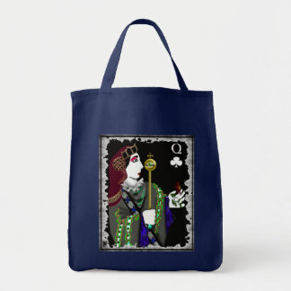 queen of staves grocery tote bag