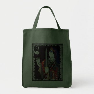 queen of swords grocery tote bag