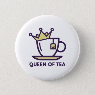 Queen Of Tea Pinback Button