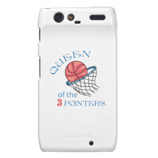 Queen Of The 3 Pointers Droid RAZR Case
