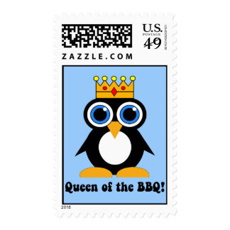 queen of the barbecue postage stamp