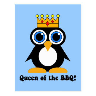 queen of the barbecue postcard
