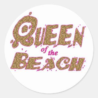 Queen of the Beach animal print Sticker