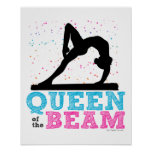 Queen of the Beam Gymnastics by Golly Girls Poster