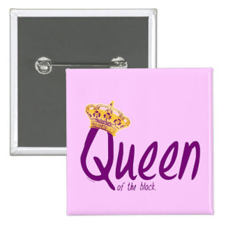 Queen of the Block 2 Inch Square Button
