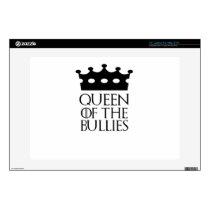 "Queen of the Bullies, #Bullies 13"" Laptop Decal"