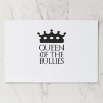 Queen of the Bullies, #Bullies Paper Placemat