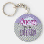 Queen of the Cafeteria - Lunch Lady Basic Round Button Keychain