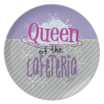 Queen of the Cafeteria - Lunch Lady Melamine Plate