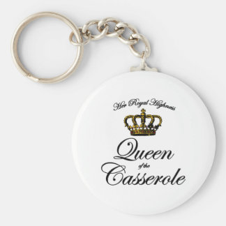 Queen of the Casserole Keychain