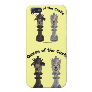 Queen of the Castle Chess Dogs iPhone 5 Case