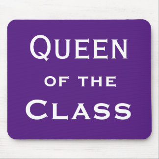 Queen of the Class Special Woman Teacher Name Mouse Pad