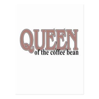 Queen of the Coffee Bean Postcard