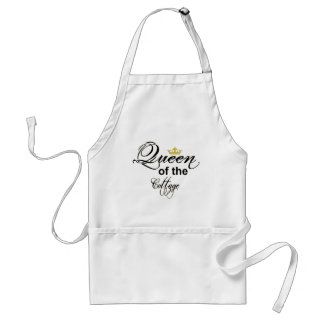 Queen of the Cottage Wordart Crown Adult Apron