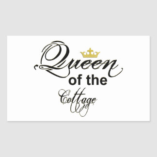 Queen of the Cottage Wordart Crown Stickers