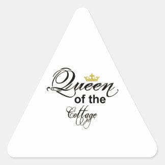 Queen of the Cottage Wordart Crown Triangle Sticker