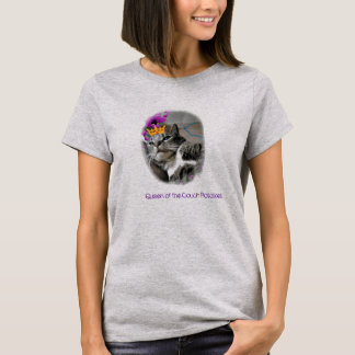 Queen of the Couch funny cat tee shirt