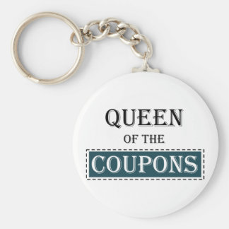 Queen of the Coupons Key Chain