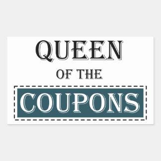Queen of the Coupons Rectangular Sticker