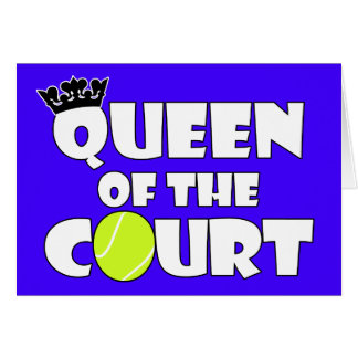 Queen of the Court Cute Girls Tennis Greeting Card
