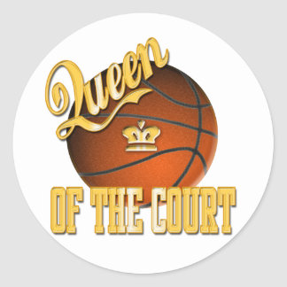 Queen of The Court Classic Round Sticker