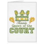 Queen Of The Court Tennis Greeting Card