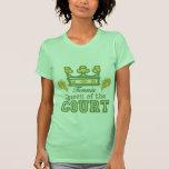 Queen Of The Court Tennis Ladies T shirt
