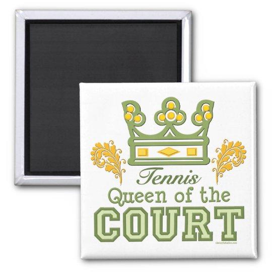 Queen Of The Court Tennis Magnet