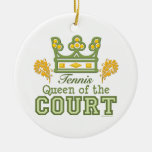 Queen of the Court Tennis Ornament