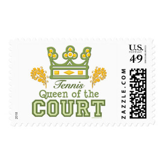 Queen Of The Court Tennis Postage Stamps