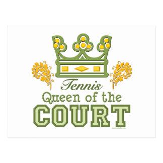 Queen Of The Court Tennis Postcard