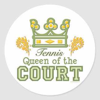 Queen of the Court Tennis Stickers