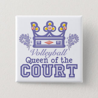 Queen of the Court Volleyball Button