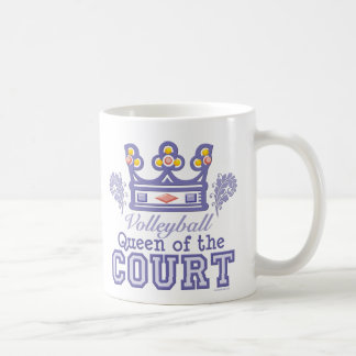 Queen of the Court Volleyball Mug