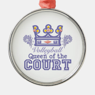 Queen of the Court Volleyball Ornament