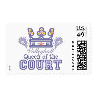 Queen of the Court Volleyball Postage Stamps