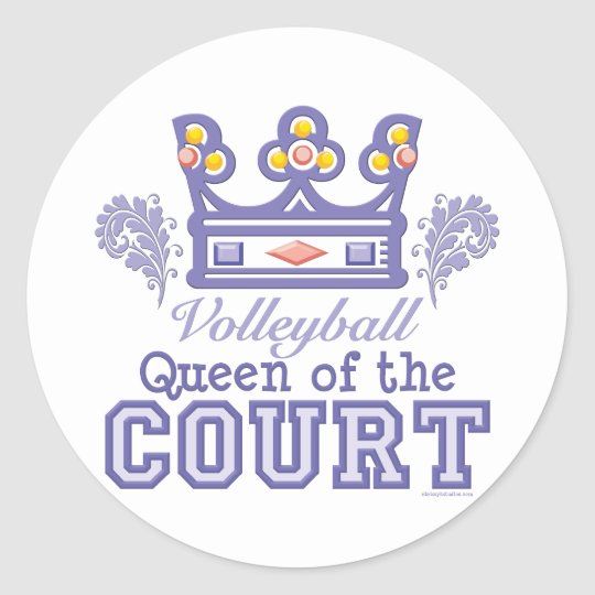Queen Of The Court Volleyball Stickers