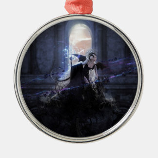 Queen of the damned round metal christmas ornament