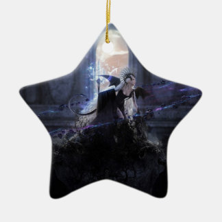 Queen of the damned Double-Sided star ceramic christmas ornament