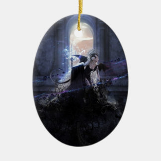 Queen of the damned Double-Sided oval ceramic christmas ornament
