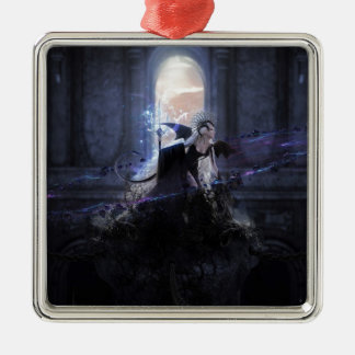 Queen of the damned square metal christmas ornament