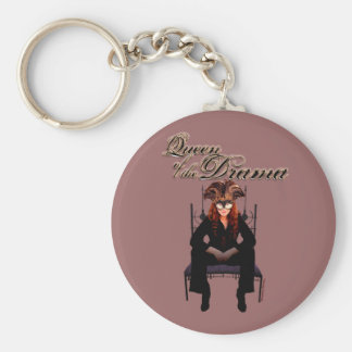 Queen of the Drama Key Chain