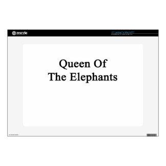"Queen Of The Elephants Decals For 15"" Laptops"
