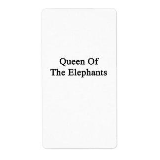 Queen Of The Elephants Label