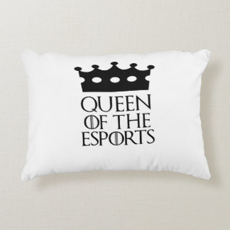 Queen of the Esports, #Esports Accent Pillow