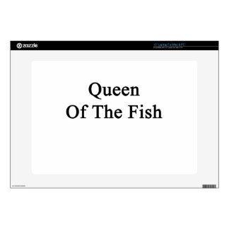 "Queen Of The Fish Decals For 15"" Laptops"