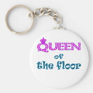 Queen of the Floor Keychain
