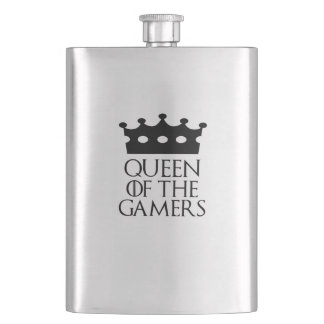 Queen of the Gamers, #Gamers Flask