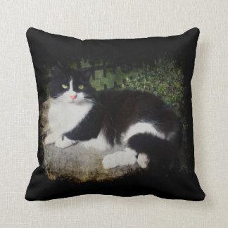 Queen of the Garden Cat Throw Pillow